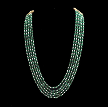 Emerald Green Multistrand Sabyasachi Necklace