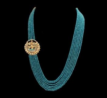 Feroza multistrand kundan pankhi necklace