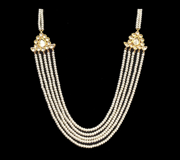 Kundan And Pearls Multistrand Necklace