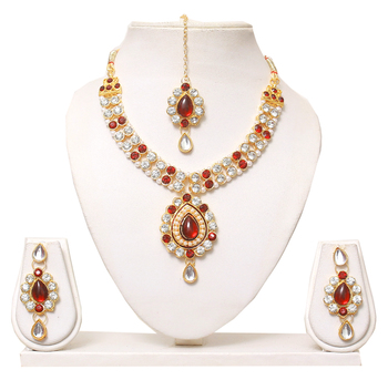 Designer diamond necklace set for womens