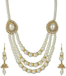 Buy Designer diamond necklace set for womens diwali-jewellery online