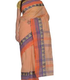 Buy White hand woven cotton saree handloom-saree online