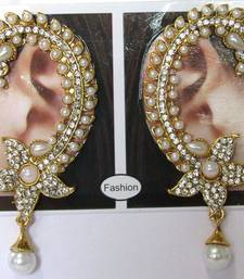 Flower white drop kaan earrings ear-cuff