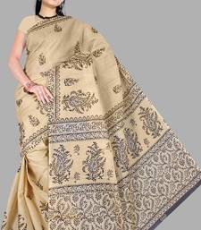 Pavechas Mangalgiri Printed Cotton Sari  - Kitkat MK250