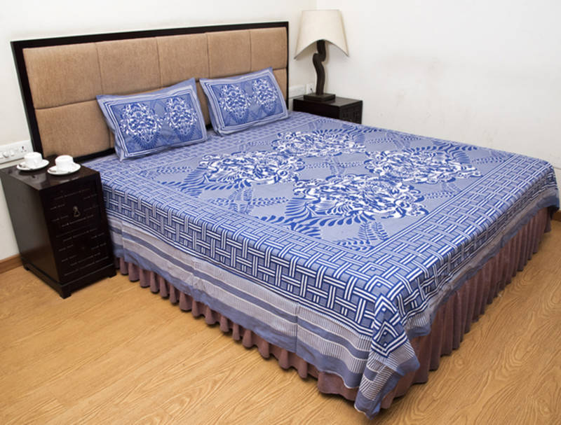 Cotton Vs Linen Curtains: Buy Gray Printed Pure Cotton Bedsheets Online