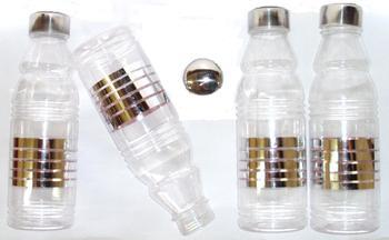 Fridge water bottle with elegant metal finish