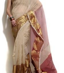 Buy Supernet Cotton Banarasi Zari Border Saree supernet-saree online