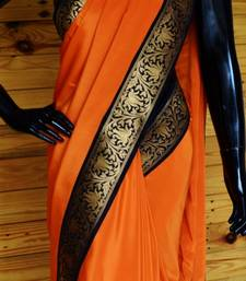 Buy PERFECT ORANGE crepe-saree online