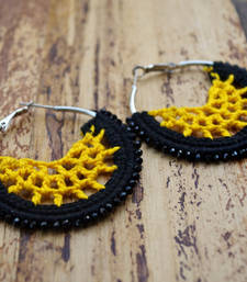 Buy black yellow crochet hoops hoop online