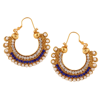 Traditional Indian Ethnic Fashion Jewelry Set Hoop Earrings