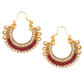 Traditional Indian Ethnic Fashion Jewelry SetHoop Earrings
