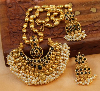 Gorgeous Designer Gold Plated Pendant Set