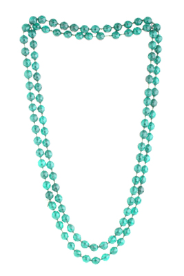 BLISS Collection Emerald Green Colour Long Fashion Beaded Necklace For Women