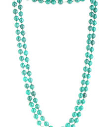 Buy BLISS Collection Emerald Green Colour Long Fashion Beaded Necklace For Women gemstone-necklace online