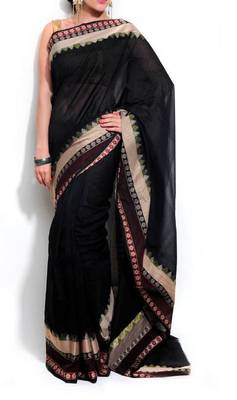 Banarasi Supernet Cotton Border Saree