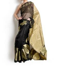 Buy Supernet Fancy Aanchal Border Saree cotton-saree online