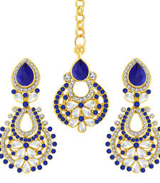 Buy Fashionable Gold Plated AD Earring For Women jewellery-combo online