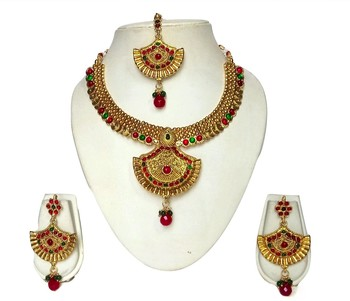 Gold plated alloy necklace set for women