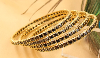 Awesome Designer Black Party Wear Bangles
