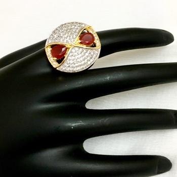 Gold american diamonds rings