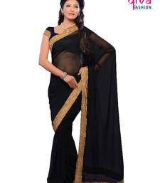 Buy tempting Bollywood style party wear designer saree by DIVA FASHION-Surat georgette-saree online