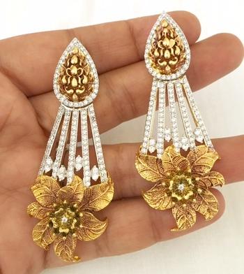Gorgeous copper finish earrings