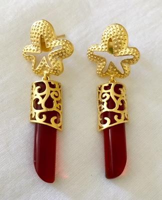 Lovely red danglers