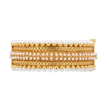 White polki bangles-and-bracelets
