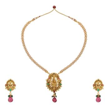 Multicolor polki necklace-sets