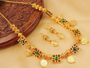 LOVELY HANDMADE TEMPLE NECKLACE SET-DJ04432