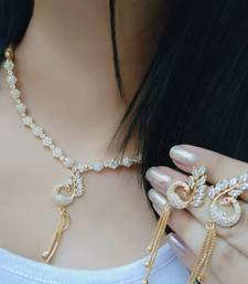 white american diamond necklaces set