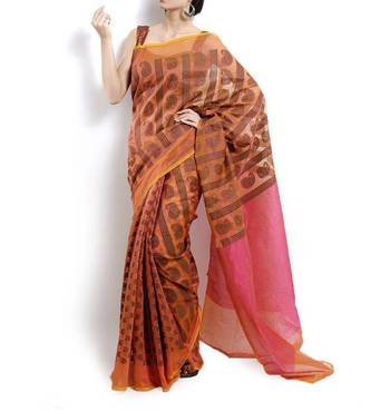 Supernet Cotton Banarasi Saree