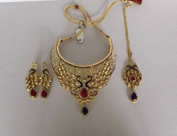 Peacock Design Bridal Necklace Set
