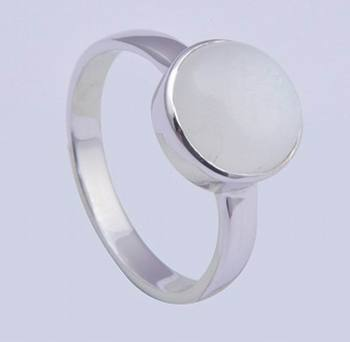 925 Sterling Silver Ring With White Moonstone Gemstone