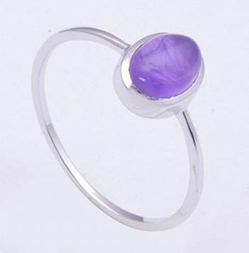 Amethyst Gemstone Ring In 925 Sterling Silver For February Birth Month