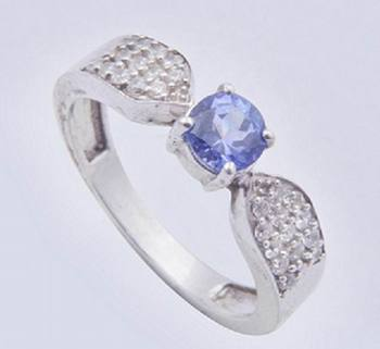 Silver Tanzanite Rings