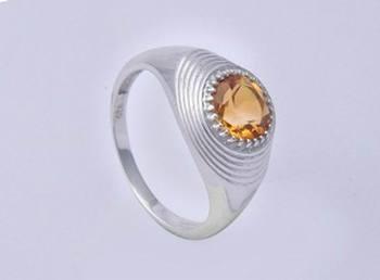 Silver Citrine Rings