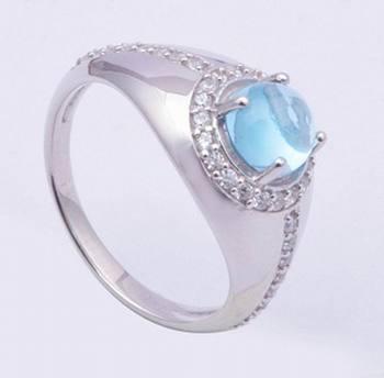 Topaz Gemstone Ring In Sterling Silver