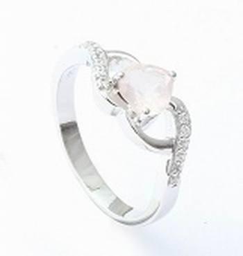 White Topaz Gemstone Ring, Sterling Silver Ring