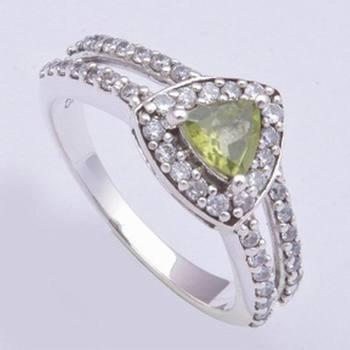 Silver Rings With Peridot Gemstone Rings