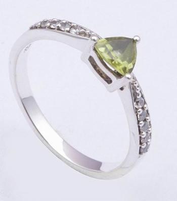 Sterling Silver Peridot Gemstone Rings