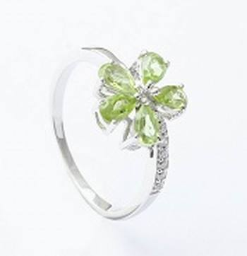 Sterling Silver Peridot   Rings