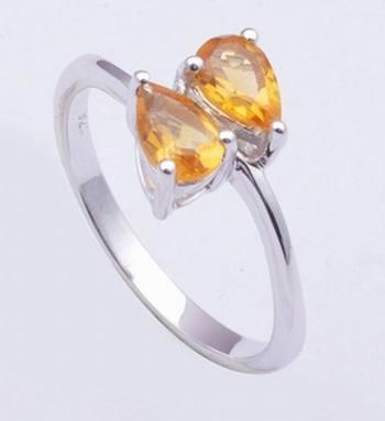 Citrine Gemstone Ring In 925 Sterling Silver Rings