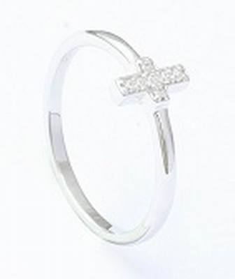 Sterling Silver Ring With Cubic Zircon Rings