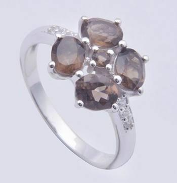Smokey Quartz Ring In Sterling Silver Rings