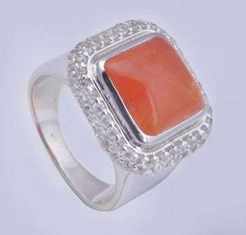 Silver Carnelian Rings