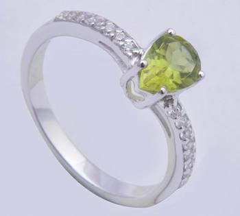 Silver Peridot   Rings