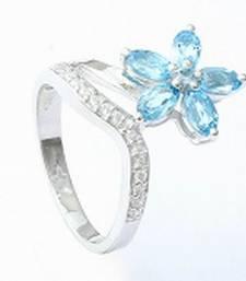 Buy Silver Topaz   rings Ring online