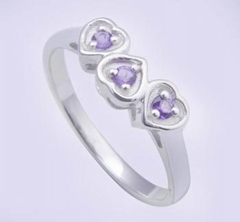 Silver Amethyst   Rings