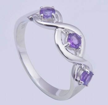 Amethyst Gemstone Ring, February Birthstone Ring